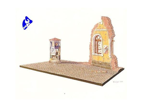 Mini art maquette militaire 36002 DIORAMA RUE RUSSE 1/35