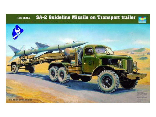 Trumpeter maquette militaire 00204 S/ REMORQUE SAM-2 1/35