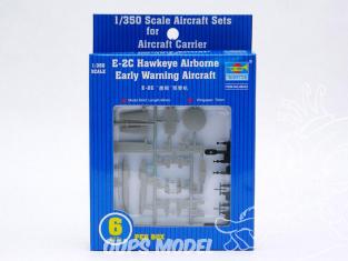 TRUMPETER maquette avion 06222 Set de 6 avions Grumman E-2C Hawkeye Early 1/350
