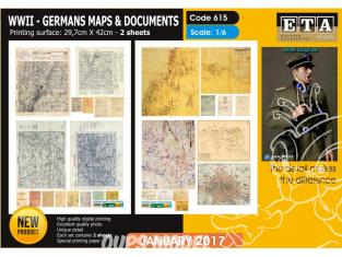 ETA diorama 615 Imprimé Cartes et Documents Allemands WWII 1/6
