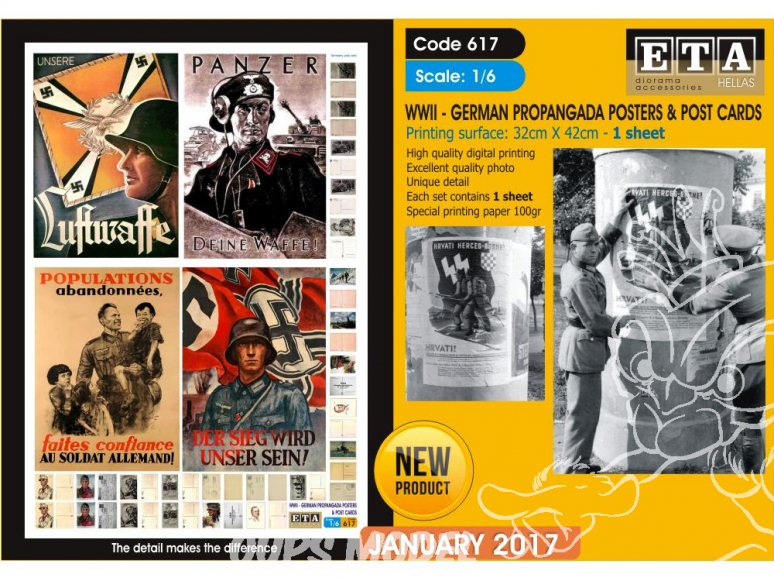 ETA diorama 617 Imprimé Affiches de propagande et cartes postales Allemandes WWII 1/6