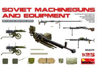 Mini Art maquette militaire 35255 Mitrailleuses sovietique avec équipement WWII 1/35