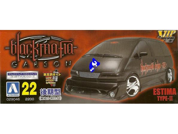 Aoshima maquette voiture 29046 Blackmafia TCR Estima 98 1/24