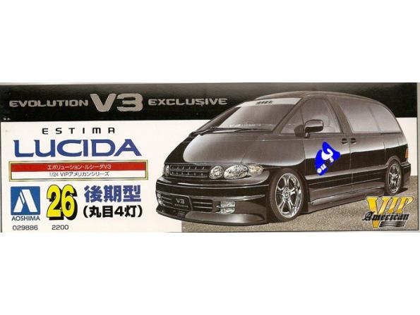 Aoshima maquette voiture 29886 Estima Lucida evo V3 1/24
