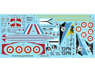 DECALQUES BERNA DECALS BD48-34 Dassault Mirage IIIB 1/48