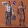 CMK figurine 48027 PILOTE DE CHASSE ET MECANICIEN RFC 1/48