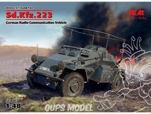 Icm maquette militaire 48192 Sd.Kfz.223 Schwerer Panzerspähwagen 1/48