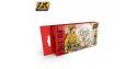 Ak interactive Set 3110 Serie Figurine D.A.K. couleurs d'uniformes DE L'AFRIKA KORPS