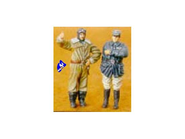 CMK figurine 48028 PILOTE ET OFFICIER FRANCAIS 1/48