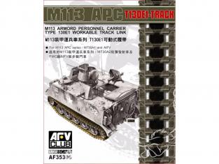 Afv Club af35306 SET CHENILLES MAILLON PAR MAILLON pour M113 APC T130E1 1/35