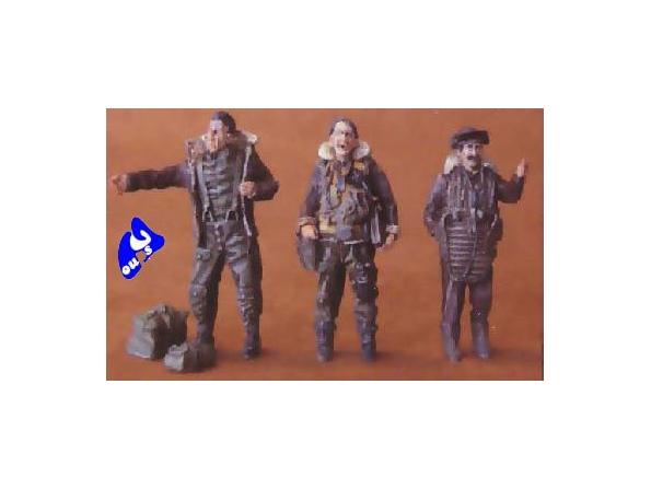 CMK figurine 48054 PILOTES DE BOMBARDIER US 1/48