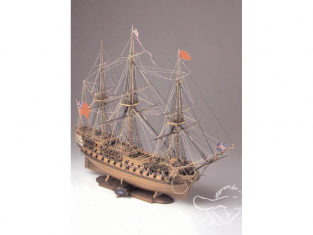 Corel bateaux bois SM54 H.M.S. Bellona Vaisseau de 74 canons de la Marine Britannique (1780) 1/100