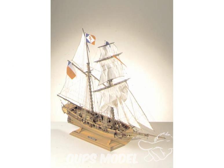 Corel bateaux bois SM52 Toulonnaise Goélette française de 1823 1/75