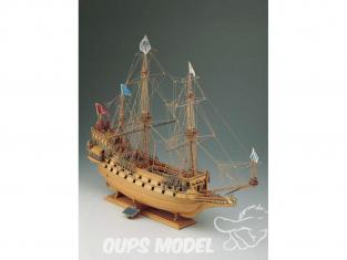 Corel bateaux bois SM17 Couronne Vaisseau de ligne française de 1636 1/100