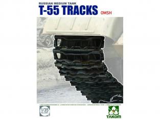 Takom accessoires vehicule militaire 2092 SET DE CHENILLES MAILLONS PAR MAILLONS pour T-55 TYPE OMSH 1/35
