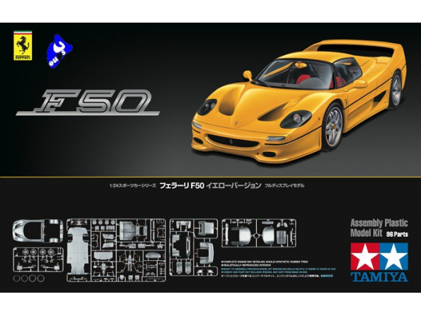 TAMIYA maquette voiture 24297 Ferrari F50 Jaune 1/24
