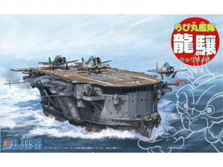 Fujimi maquette plastique bateau 422046 porte avion japonais Ryujo tiré de la bande dessiné Chibimaru