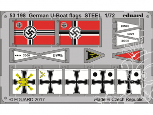 Eduard photodecoupe 53198 Drapeaux Allemands U-boat 1/72
