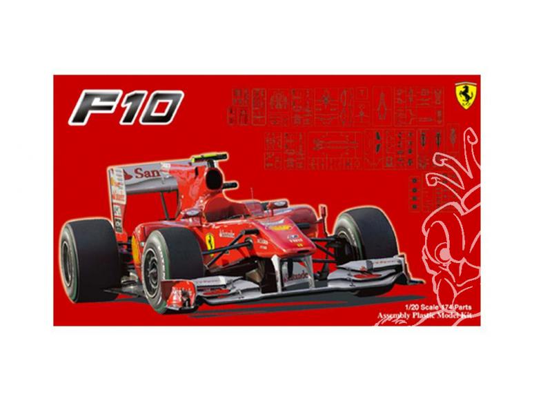 Fujimi maquette voiture 092041 Ferrari F10 GP Japon Allemagne GP d'Italie 1/20