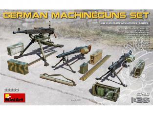 Mini Art maquette militaire 35250 Mitrailleuses Allemande avec équipement WWII 1/35