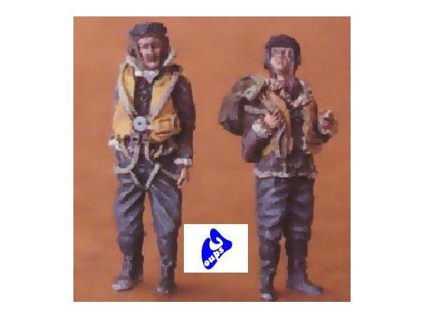 CMK figurine 48058 PILOTES DE LA RAF AVANT LE VOL 1/48