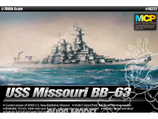 Fujimi maquette bateau 14223 USS Missouri BB-63 Edition Modeler's 1/700