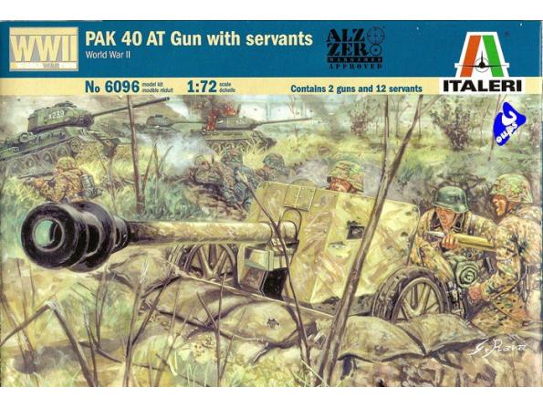 Italeri maquette militaire 6096 Pak 40 At avec servants 1/72