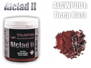 Pigments Alclad II Warpigs ALCWP001 Pigments Rouille profonde 20ml