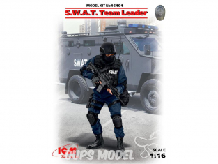 Icm maquette figurine 16101 S.W.A.T. Team Leader 1/16