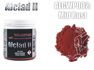 Pigments Alclad II Warpigs ALCWP002 Pigments Rouille 20ml