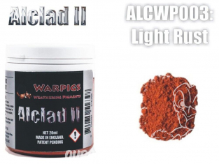 Pigments Alclad II Warpigs ALCWP003 Pigments Rouille legere 20ml