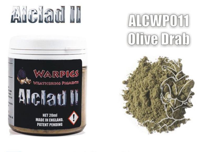 Pigments Alclad II Warpigs ALCWP011 Pigments Olive terne 20ml