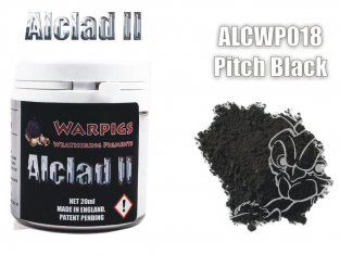 Pigments Alclad II Warpigs ALCWP018 Pigments Terrain noir 20ml