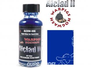 Washes Alclad II Hogwash ALCHW006 bleu nuit pour gris sombre 30ml