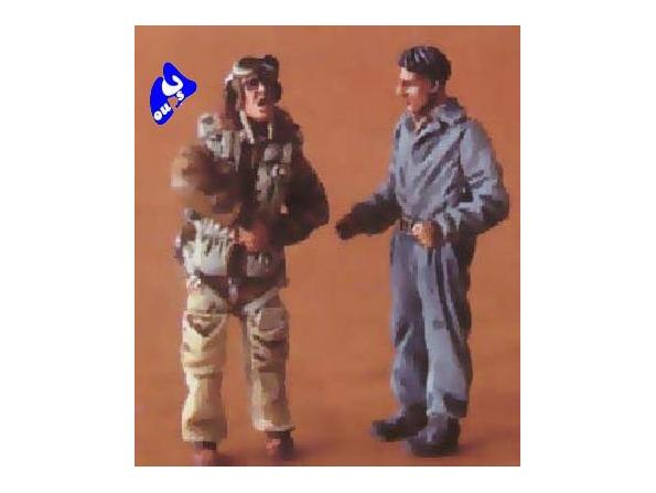 CMK figurine 48062 PILOTES ET MECANICIEN ITALIEN 1/48