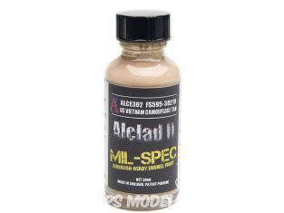 Peinture enamel Alclad II Mil-Spec ALCE302 Utilisation a l'aérographe US vietnam camouflage ocre 30ml