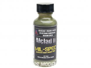 Peinture enamel Alclad II Mil-Spec ALCE307 Utilisation a l'aérographe US vietnam camouflage ocre 30ml