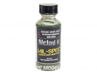 Peinture enamel Alclad II Mil-Spec ALCE308 Utilisation a l'aérographe US vietnam camouflage vert foncé 30ml