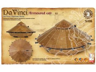 Academy maquette Da Vinci 18136 vehicule blindé armé de canons