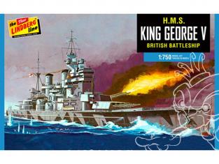Lindberg maquette bateau HL447 H.M.S King george V 1/750