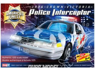LINDBERG maquette voiture HL130 America's Finest Crown Victoria Police Cruiser 1/25