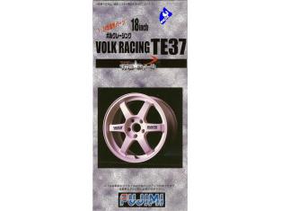 """Fujimi maquette voiture 192796 Jantes Volk Racing TE37 18"""" et pneus 1/24"""
