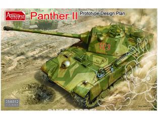 Amusing maquette militaire 35A012 Panther II Prototype suivant plans 1/35