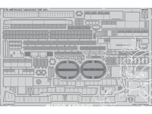 Eduard photodecoupe 53194 HMS Hood Partie 6 Superstructure Trumpeter 1/200