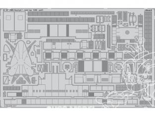 Eduard photodecoupe 53197 HMS Hood Partie 7 Main top Trumpeter 1/200