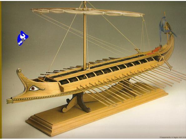 Amati Kit bateau bois 1404 BIREME GREQUE 1/35