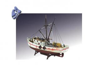 Lindberg maquette bateau 77223 Chalutier à crevettes 1/60