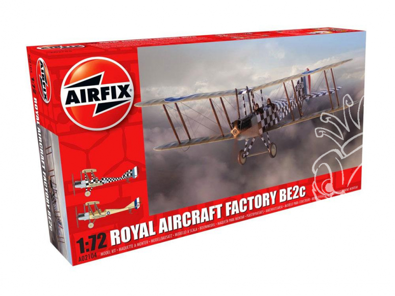 Airfix maquette avion 02104 Royal Aircraft Factory BE2c Scout 1/72