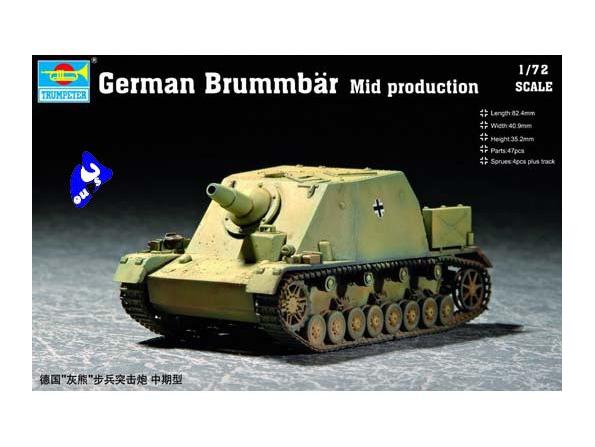 "Trumpeter maquette militaire 07211 CANON D&39ASSAUT ""BRUMMBAR"" 1/7"