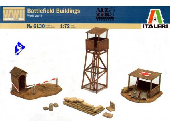 Italeri maquette militaire 6130 Batiments Champ de bataille 1/72